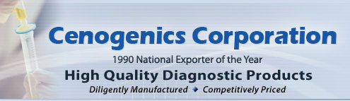 Cenogenics Corporation - High Quality Diagnostic Products - Diligently Manufactured - Competitively Priced